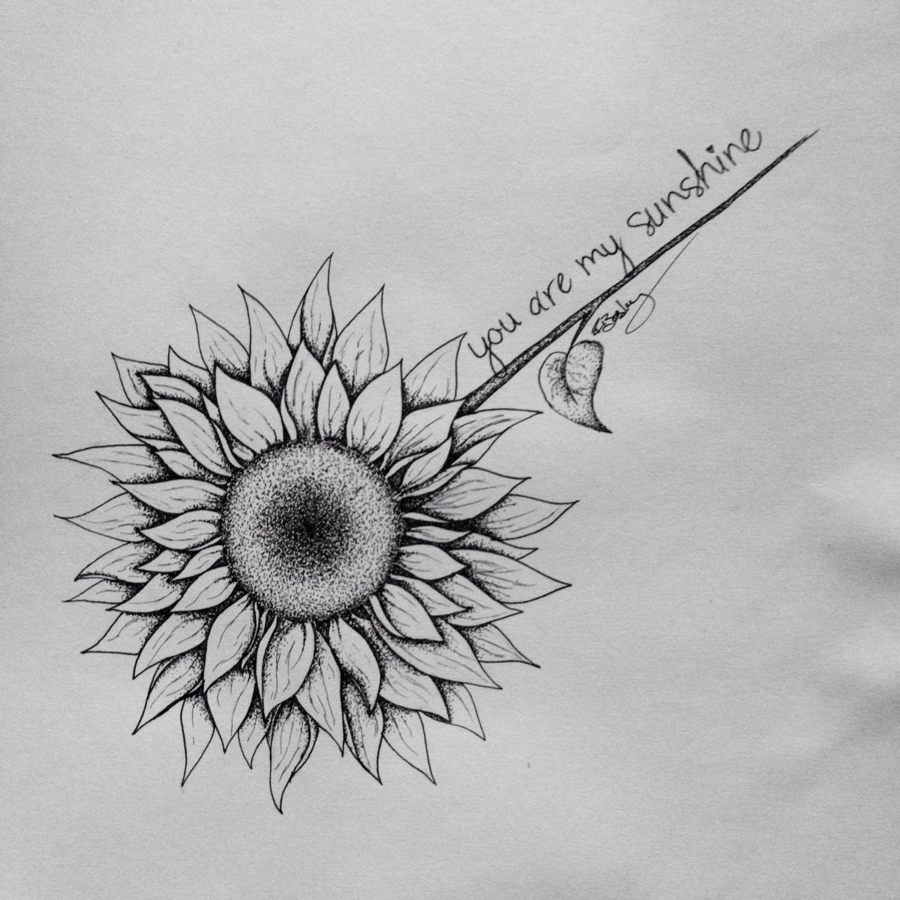 Sunflower Tattoo Drawing For A Friend