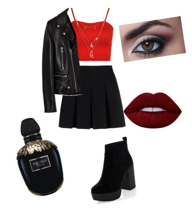 """""""Aries inspired"""" by molly-withington ❤ liked on Polyvore featuring WearAll, Alexander Wang, Yves Saint Laurent, Charlotte Russe, Lime Crime and Alexander McQueen"""