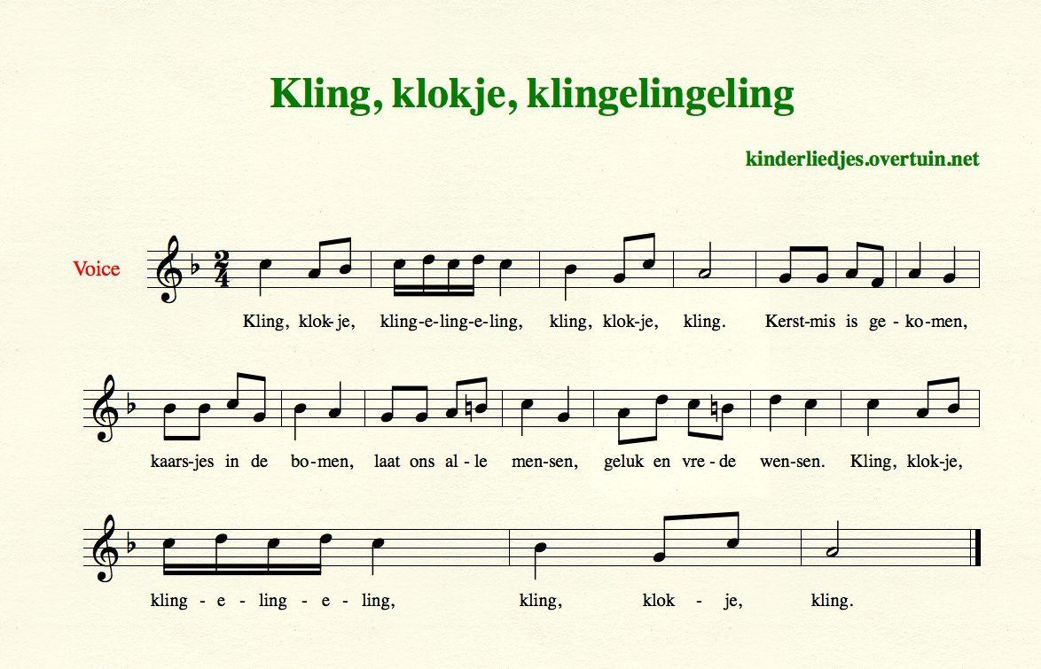 Afbeeldingsresultaat Voor Bladmuziek Kling Klokje