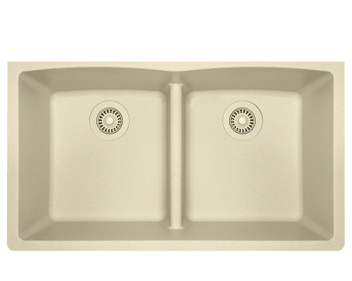 Trugranite Sink 33 X 19 Double Equal Bowl Low Divide