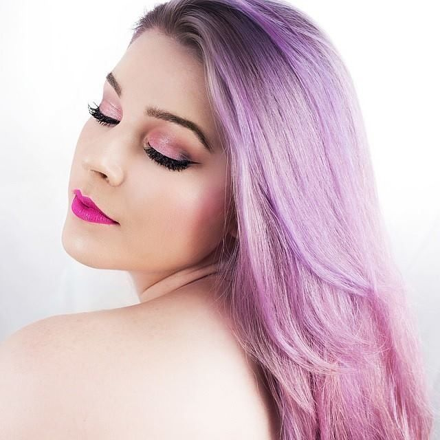 ℒᎧᏤᏋ Her Pretty Purple To Pink Pastel Ombré Hair Find This Pin And More On Manic Panic Mystic Heather