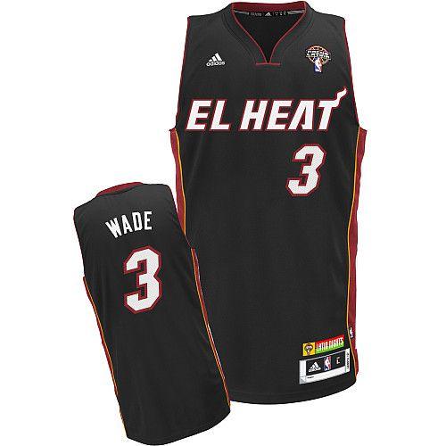 8beb9f12a 3 Latin Nights Heat Dwyane Wade Black Stitched NBA Jersey