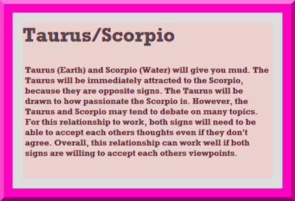 Scorpio and Taurus Love Compatibility