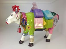 Amber Felts - Cow parade - Cowparade - Miss Moolevard on the Boulevard - Resin - EXTRA LARGE with original box