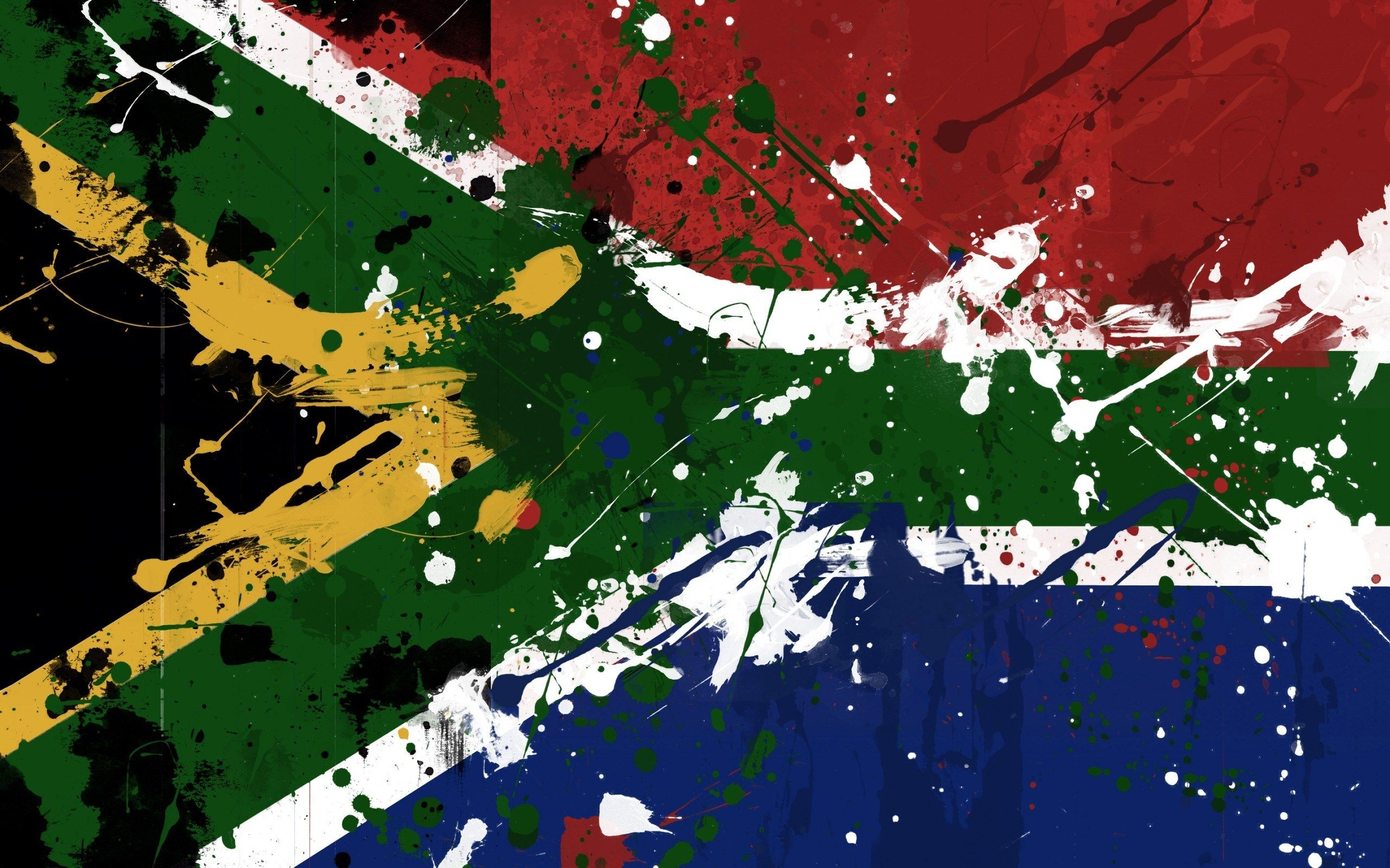South Africa Flag Painted Spots HD Wallpaper - ZoomWalls | Art ...