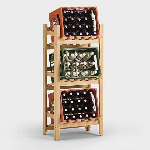 Getränkeregal Buche – Aufbewahrungsboxen Basteln