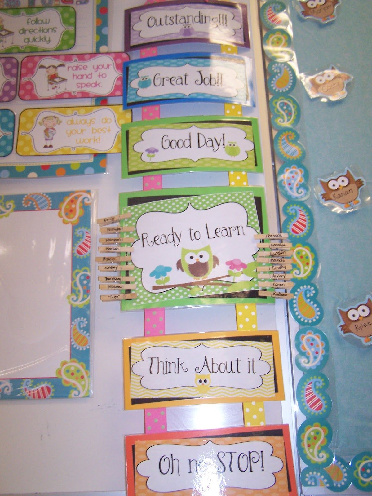 Classroom Design For Grade One : Owl themed classroom bulletin board tales of a first