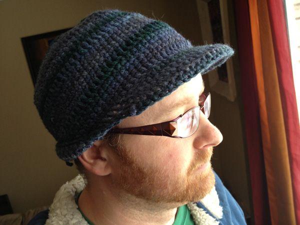 Men\'s Brim Crochet Hat - The Crochet Crowd | Hüte und Mützen, Hüte ...