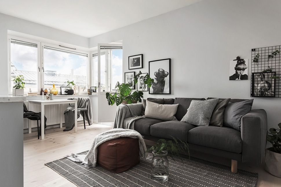 Small Apartment In Grey Tones Appartment Decor Living Room Inspiration Home