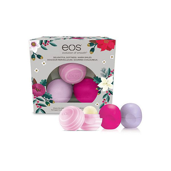 Limited Edition Holiday Collection Organic Smooth Sphere Lip Balms (155 BRL) ❤ liked on Polyvore featuring beauty products, skincare, lip care and lip treatments