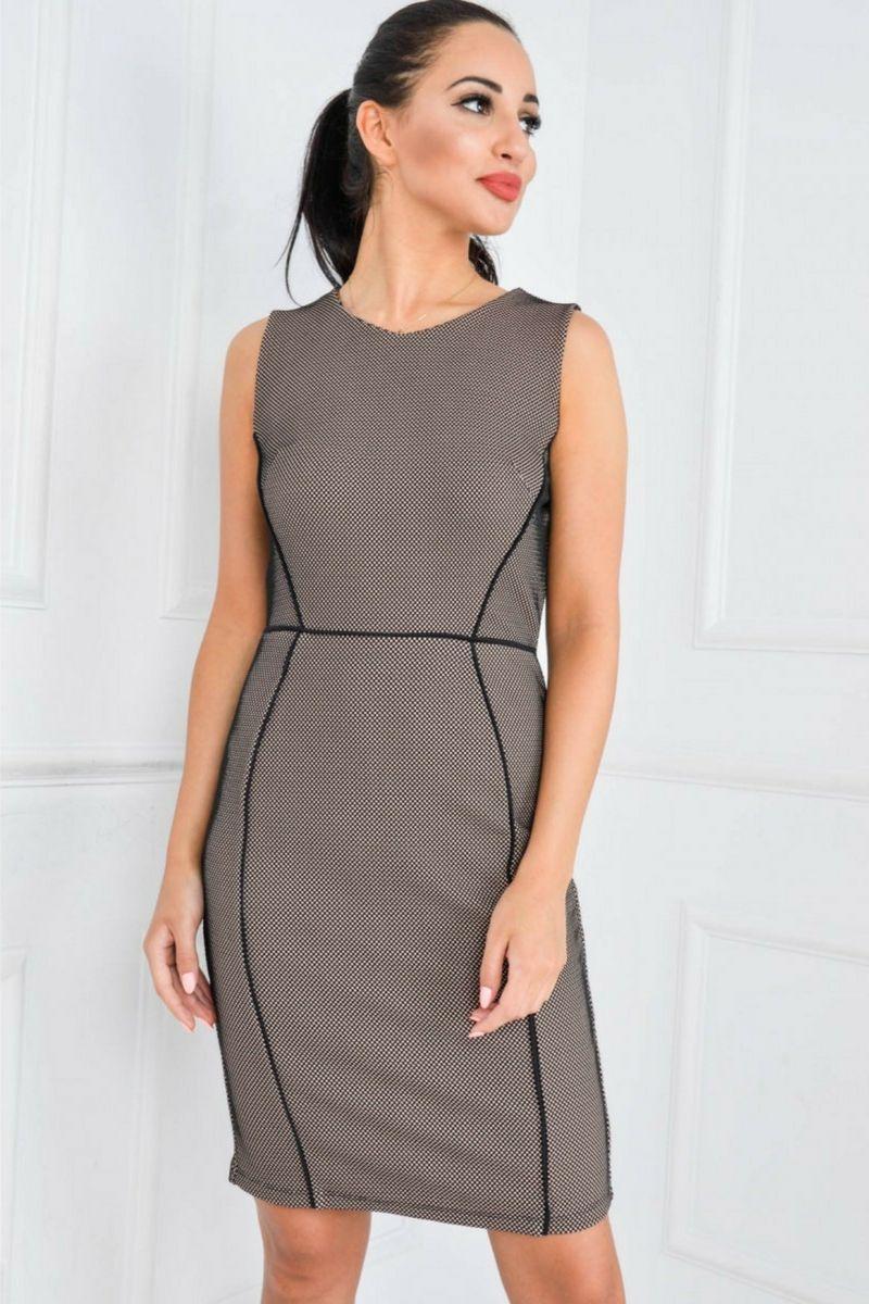 8c8bded1ca Ołówkowa sukienka w drobne kwadraciki