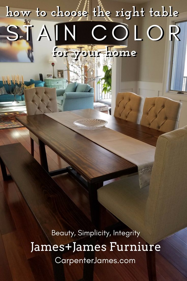 What Finish Color Is Best For My Space Dark Wood Dining Room Set Furniture Stained Table