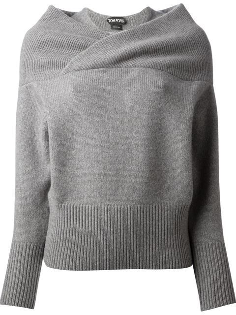28f8a814ac7 Shop Tom Ford double collar sweater in Il Bacio Di Stile from the world s  best independent boutiques at farfetch.com. Over 1000 designers from 60  boutiques ...