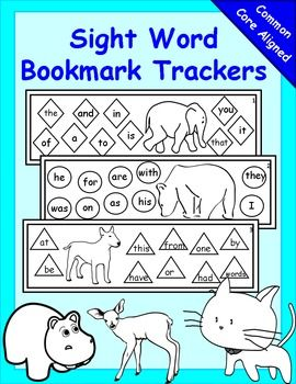 sight word trackers editable kindergarten reading pinterest