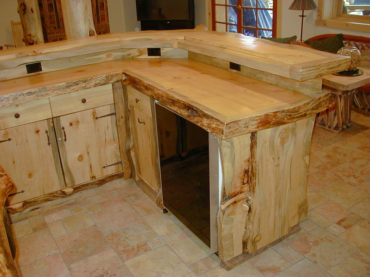 Attractive Counter And Cabinets