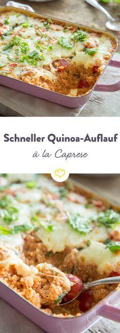 wenn s schnell gehen muss quinoa auflauf alla caprese rezept pasta pinterest essen. Black Bedroom Furniture Sets. Home Design Ideas