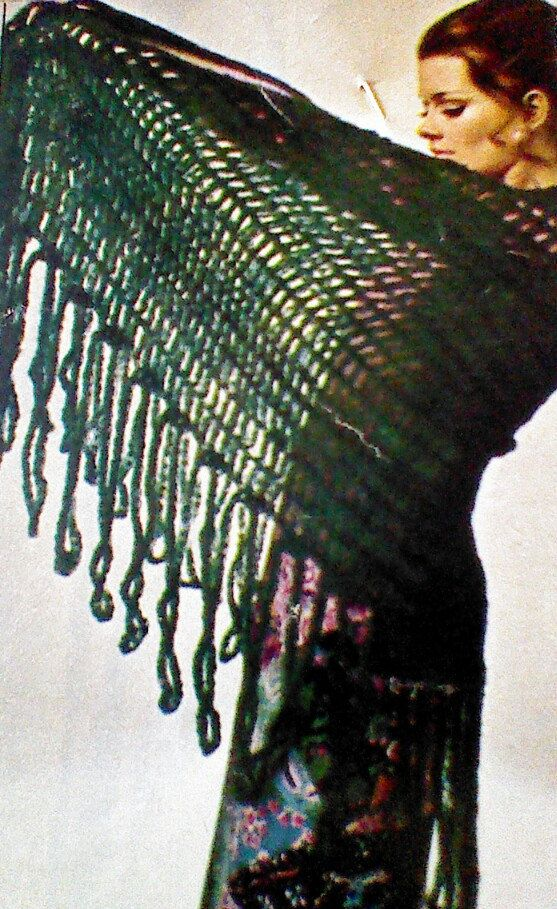 Vintage Crochet Shawl Pattern 300 Via Etsy Knit And Crochet