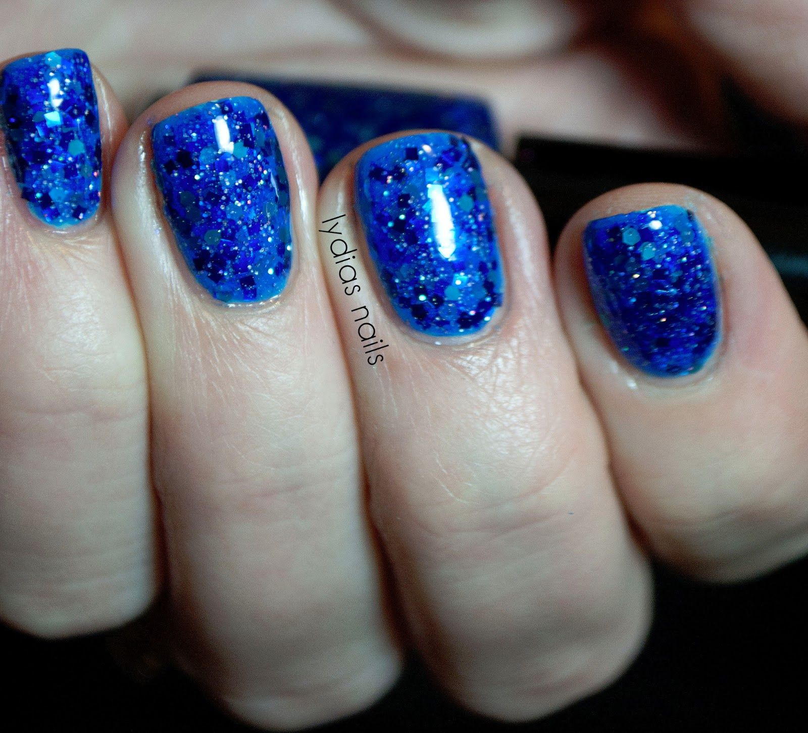 Black Sheep Lacquer- Blue in the Face (2 coats) over Wet 'n' Wild - I Need a Refresh-Mint