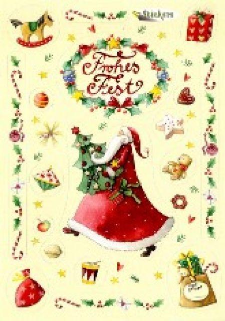 Email Frohe Weihnachten.Sticker Karte Weihnachten Frohes Fest Nina Chen Natale Per