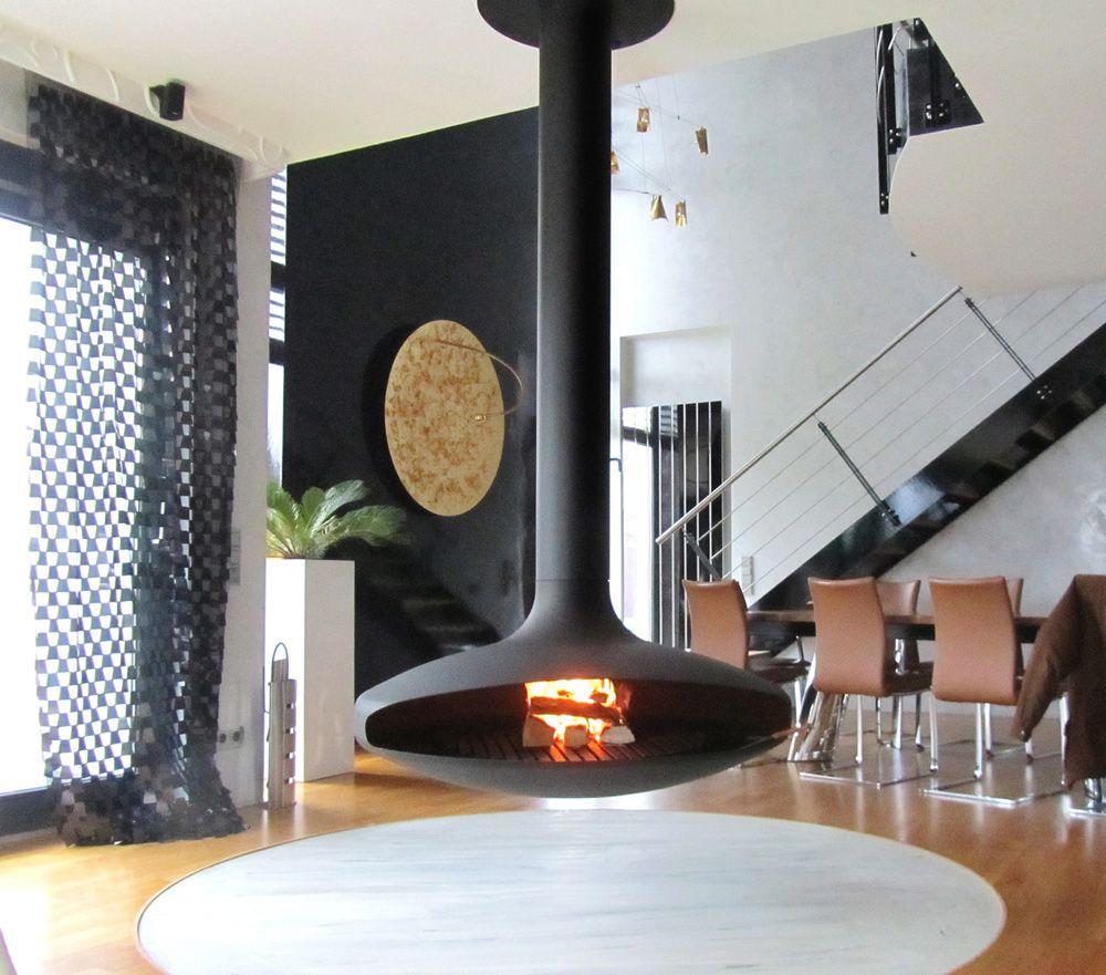 Cheminée contemporaine centrale Gyrofocus | decor | Pinterest ...