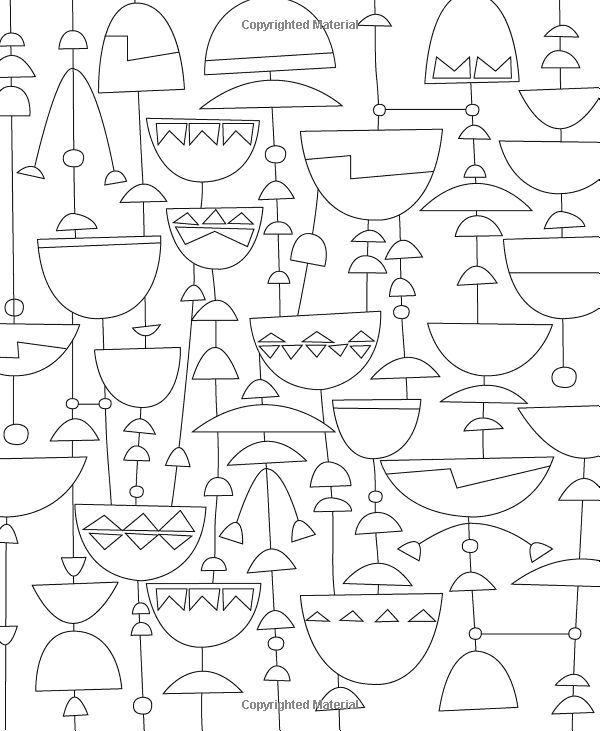 9781592539468 just add color mid century modern patterns colouring book calendar club calendar club of canada - Modern Patterns Coloring Book