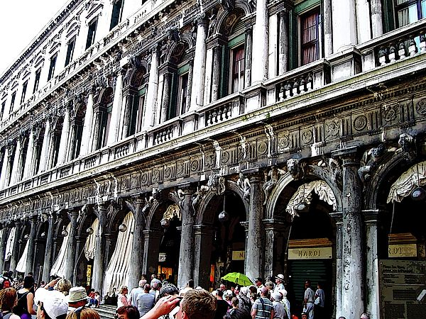 Piazza San Marco Shops - Venice Italy #art #photography #veniceitaly #architecture #tourism #travel