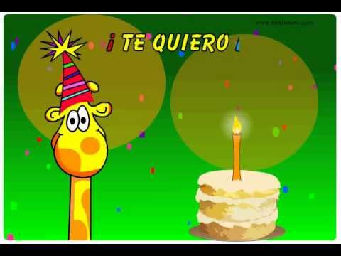 Feliz Cumpleanos Video Animado.Te Quiero Mucho Feliz Videos Animados De Feliz Cumpleanos