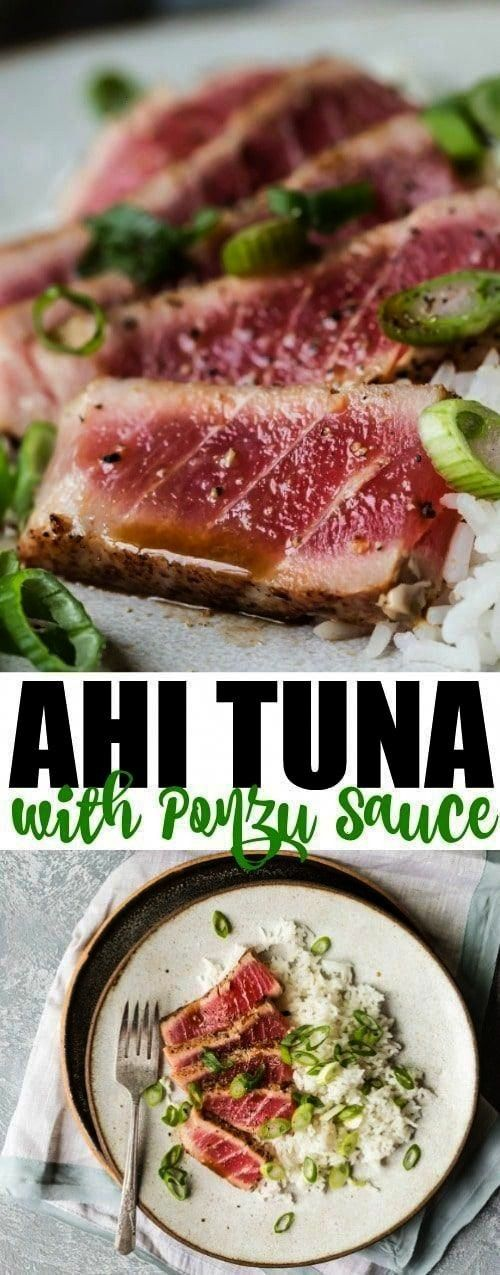 perfect spring or summer special occasion dinner this seared Ahi Tuna recipe pairs perfectly with a sparkly citrus ponzu sauce on the plate If you cant think of an occasi...