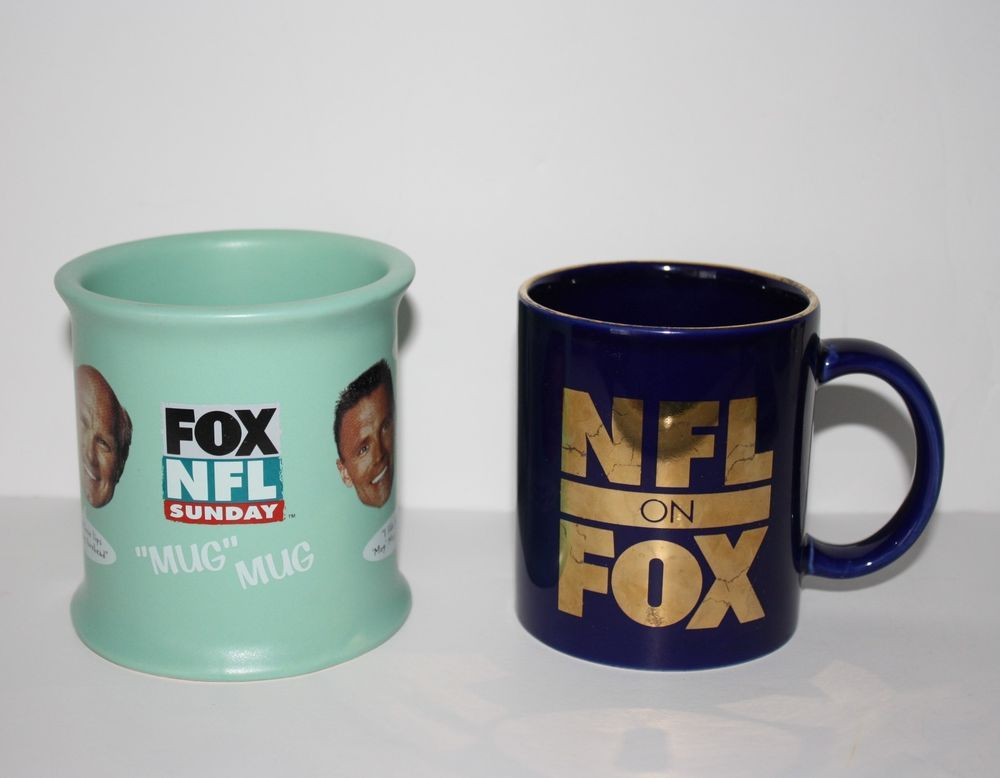 Fox NFL Sunday Football Terry Bradshaw Howie Long Brown Collinsworth Coffee Mug  Whats the