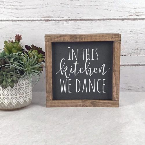 Photo of In This Kitchen We Dance Sign