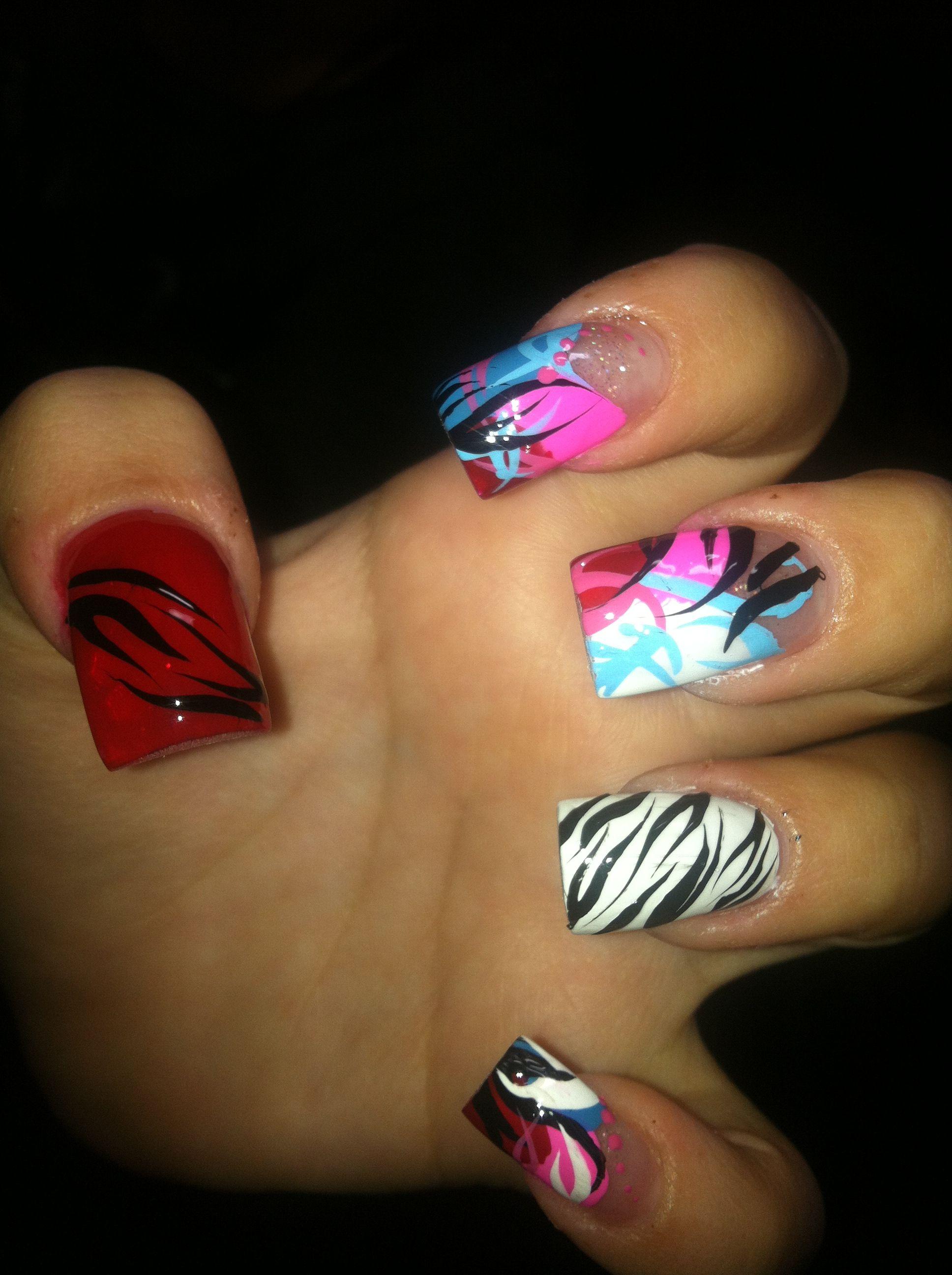 Exotic nail design.   Oh you fancy, huh?   Pinterest   Exotic nail ...
