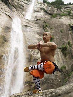 Tibetian munk is training levitation chance  | bike
