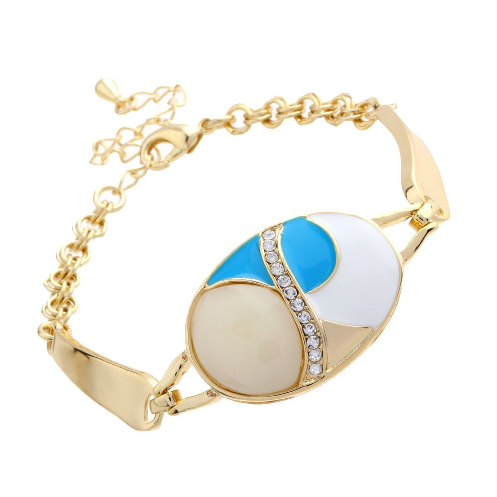 Hot goldcolor rhinestone bracelet women magnetic bracelet men