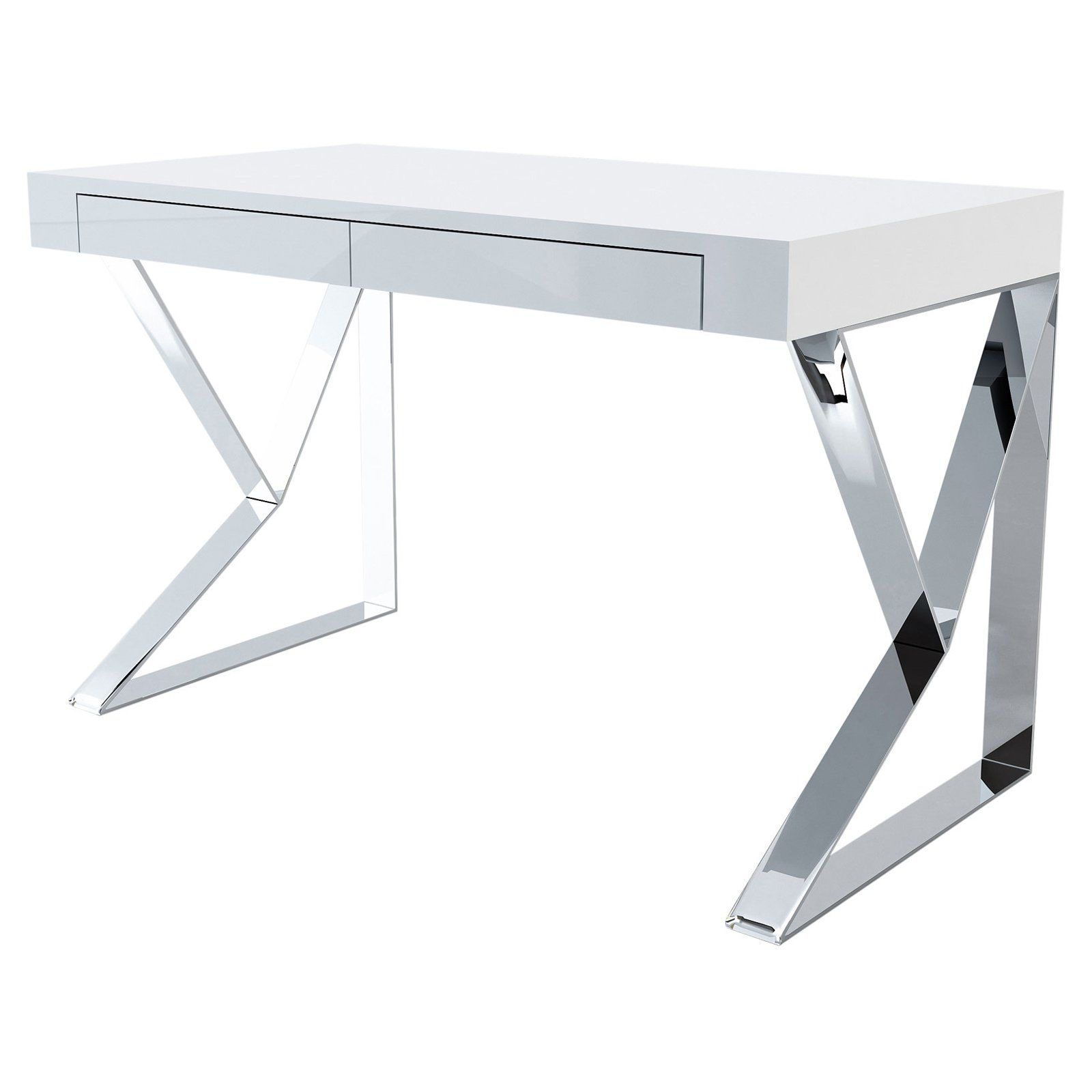 Modloft Houston Desk Modern White Desk Contemporary Office Desk