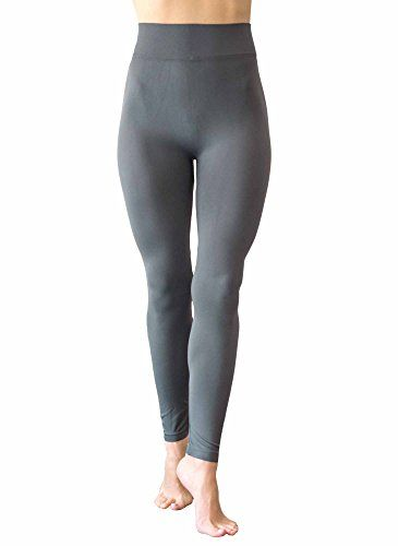 NOTOE Solid Color Seamless Legging with 3 Inch Height Waist Band (CHARCOAL). 92% Polyester 8% Spandex High Stretch Fabric with ultra soft hand feel and inner lining. Easy-to-wear, made seamless with high waist band to better conform to your body shape and bring out your curves. High stretch recovery rate so your leggings will maintain their original shape and size. Light & breathable - perfect for spring layering or summer pants!.