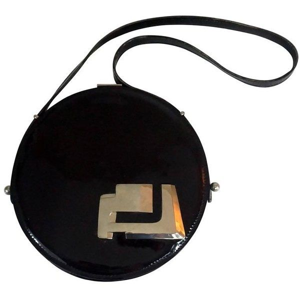 Pierre Cardin Square Black Patent With Silver Panels Shoulder Bag-shw-60s le6B5Qa