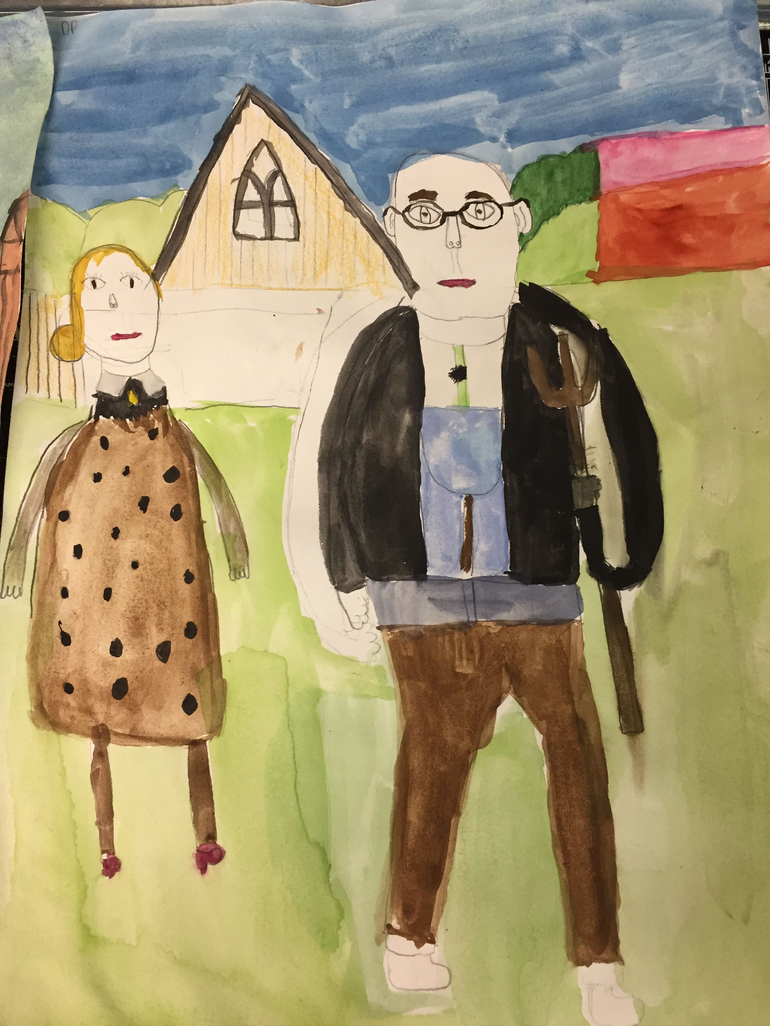 Wonderful American Gothic Paintings By KS2 Art