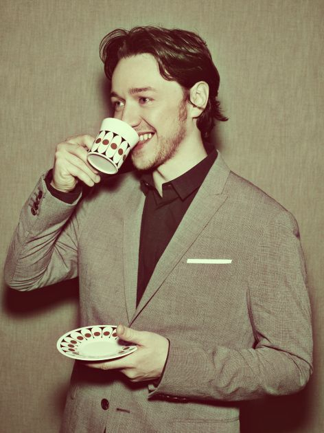 drinking tea http://wizardwaffles.tumblr.com/post/26150711946/1-50-pictures-of-james-mcavoy#