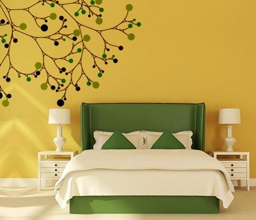 Wall Painting Design Ideas | Wall paintings, Green living rooms and ...