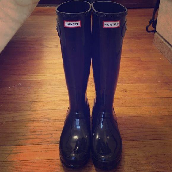 Hunter's rain boats Black and tall Hunter Boots Shoes Winter & Rain Boots