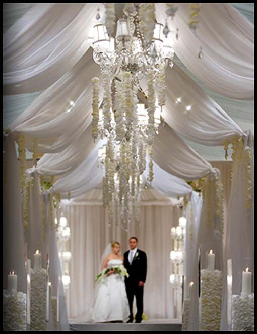 flowers draping decoration wedding ideas pearl tent and for deer draped fabric drapes rustic lights cheap with