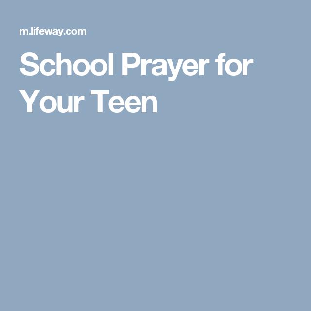 School Prayer for Your Teen
