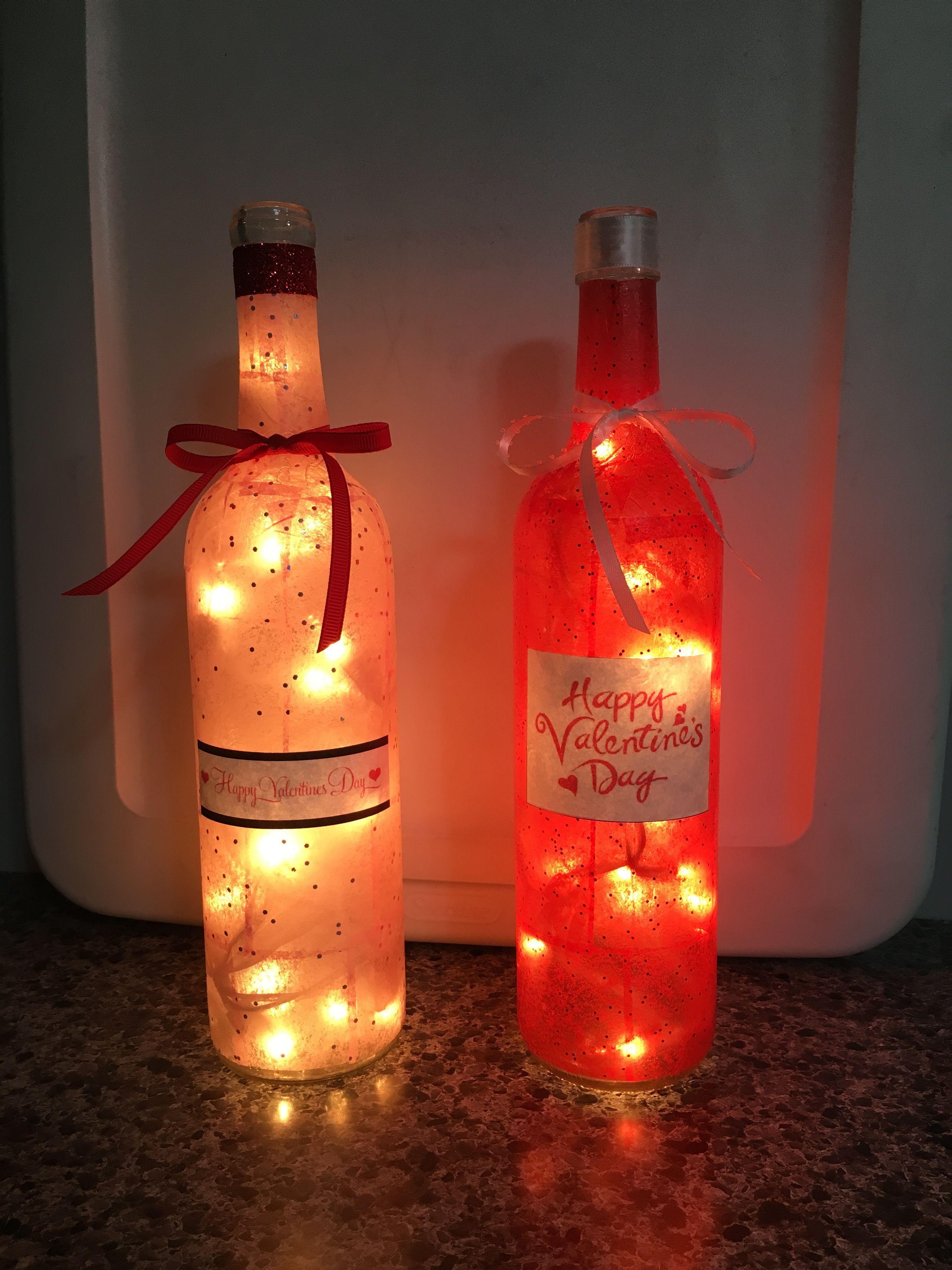 Valentines Day Wine Bottle Lamps Wine Bottle Candles Valentines Wine Bottles Wine Bottle Crafts