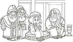 Joseph The Carpenter Coloring Page