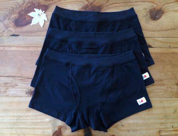3x Organic Cotton & Hemp Boxer Briefs Men's Underwear P5z8NNe22