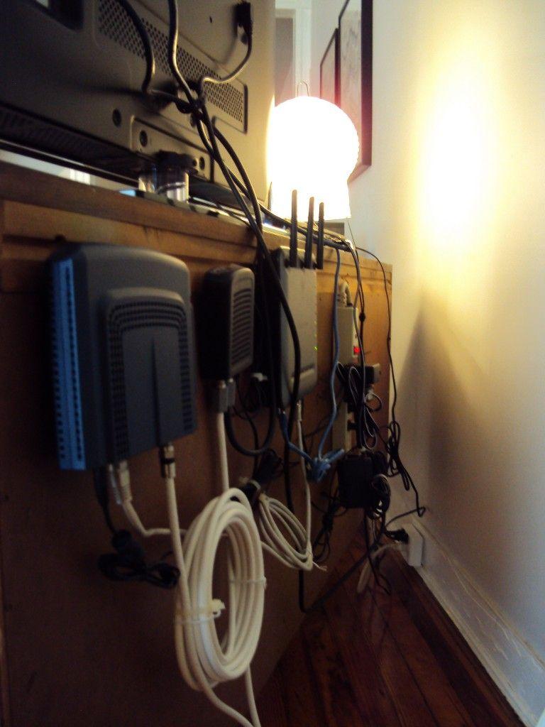 hiding cable modem cables [ 768 x 1024 Pixel ]