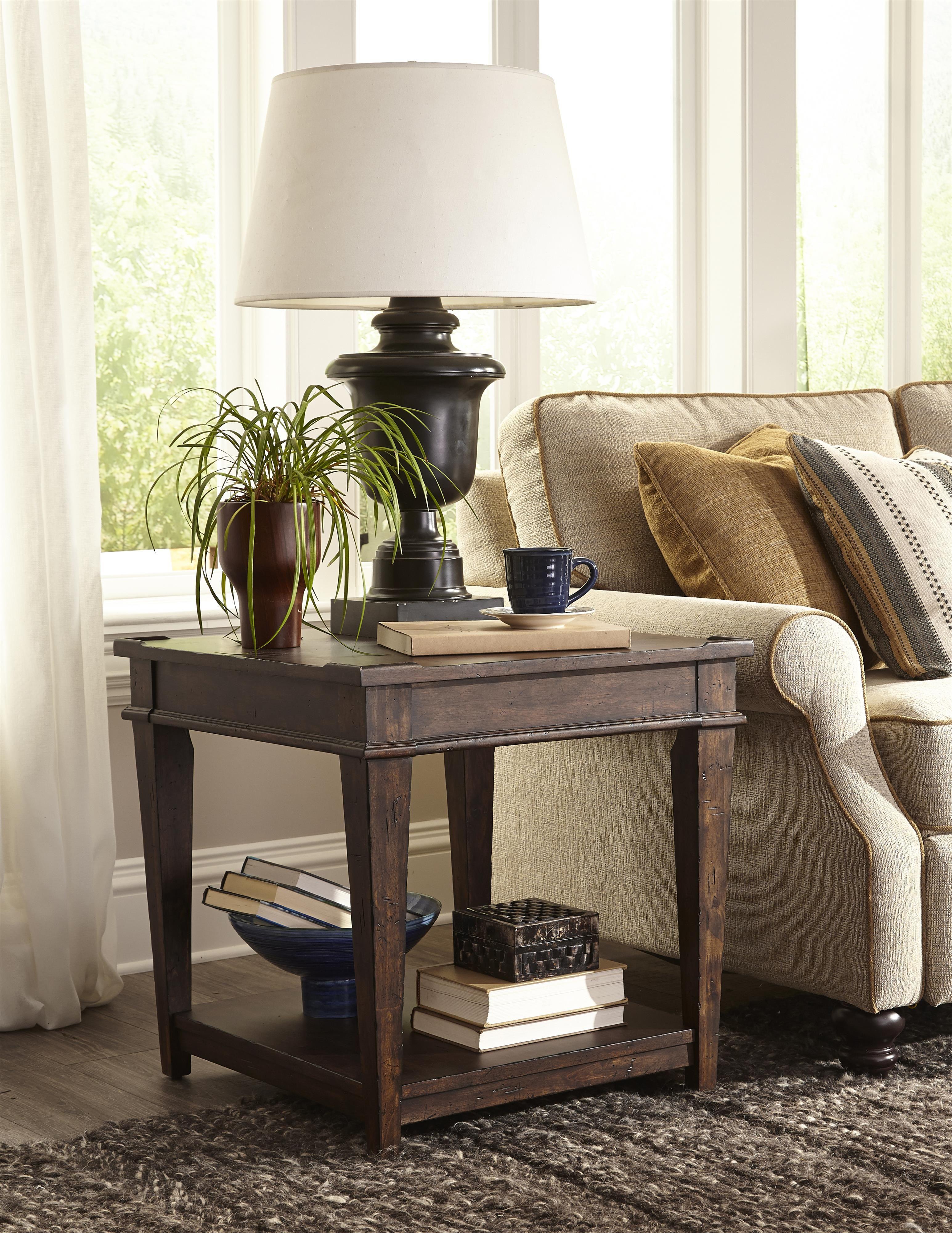 Trisha Yearwood Home End Table with One Shelf by Trisha