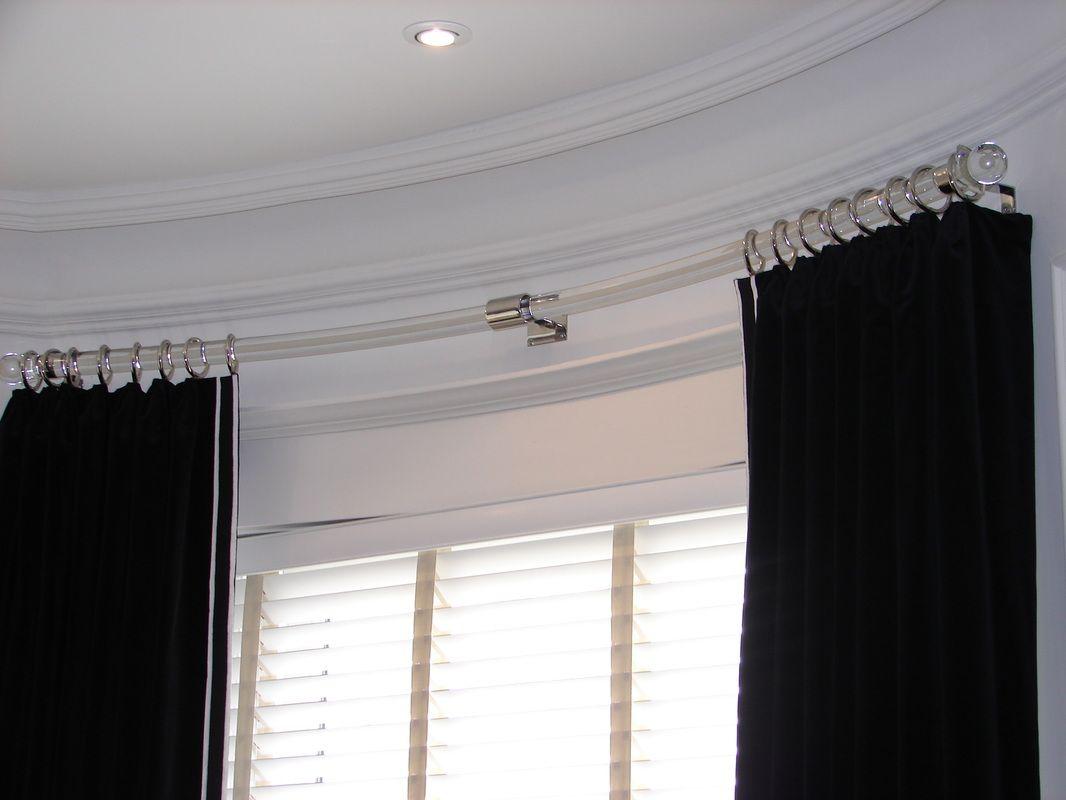 Clear Acrylic Rod For Bow Window Bow Window Bow Window Curtains Curtains
