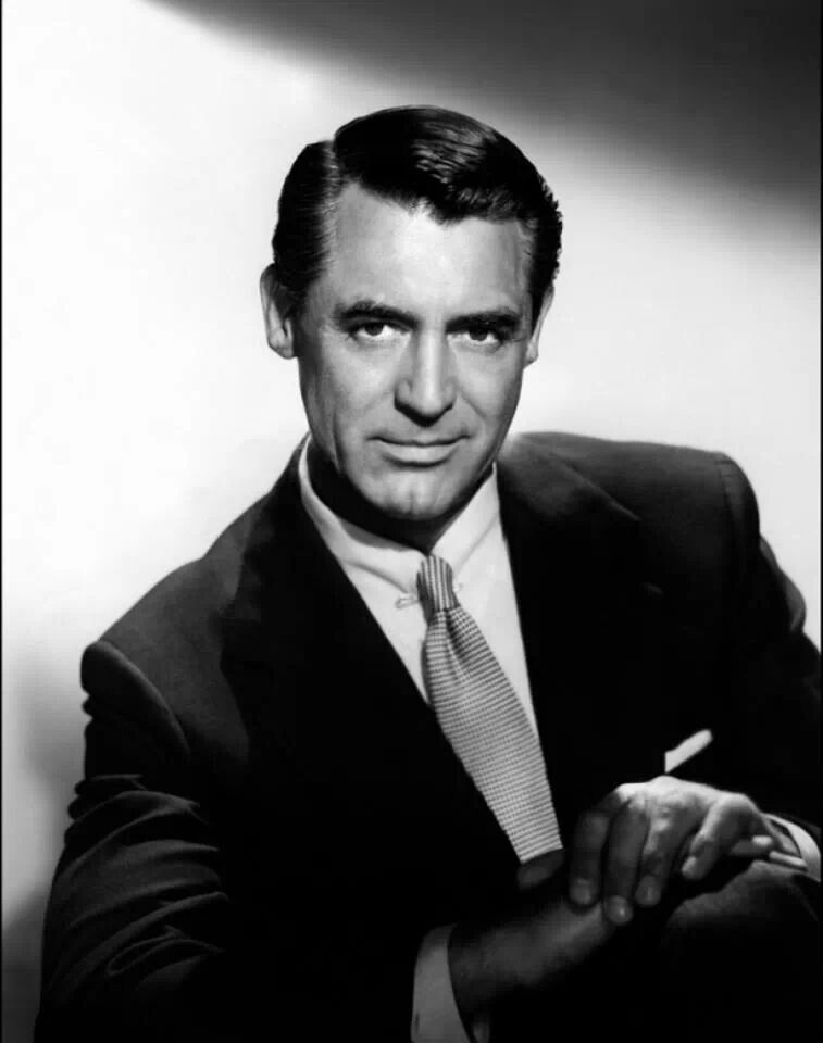 Cary Grant....the most handsome man of all time.   Most ...