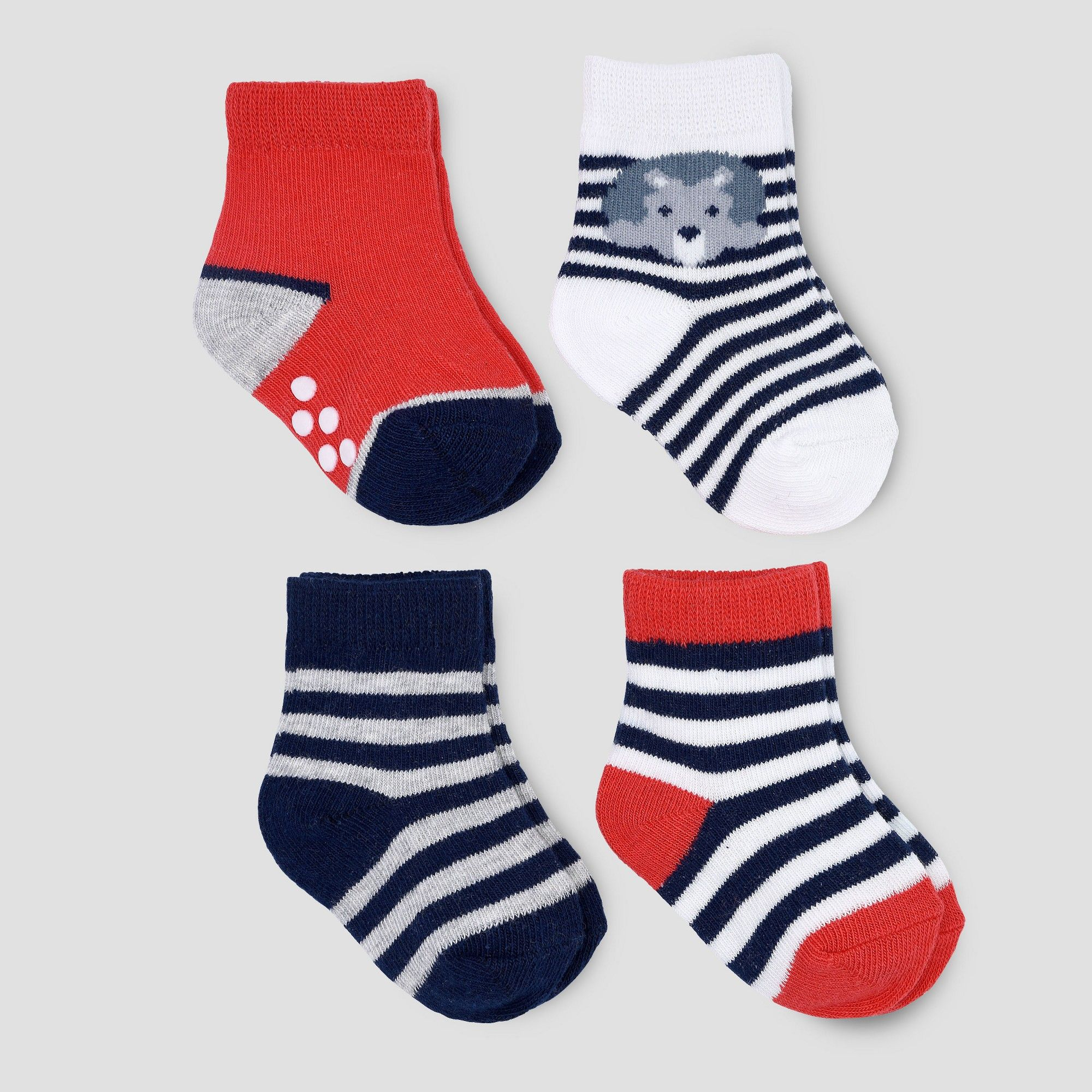 3dd721559 Baby Boys  4pk Lion Crew Socks - Just One You Made by Carter s Red ...